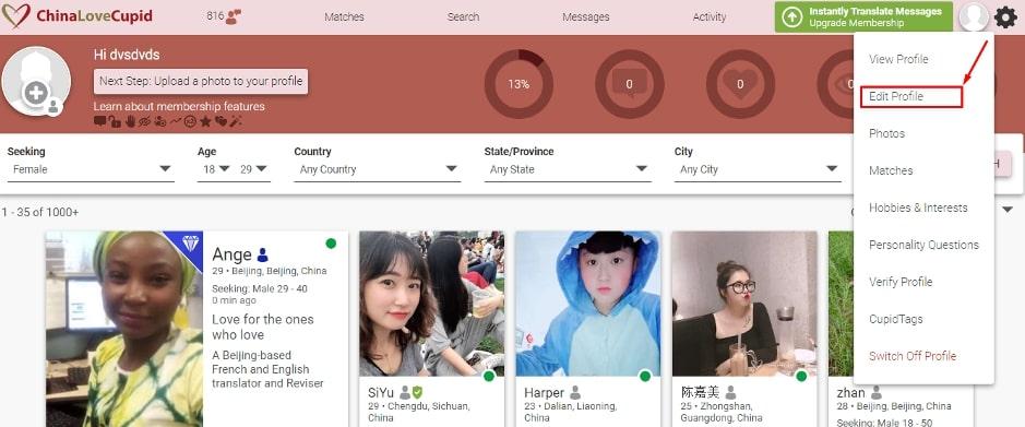 ChinaLoveCupid edit profile