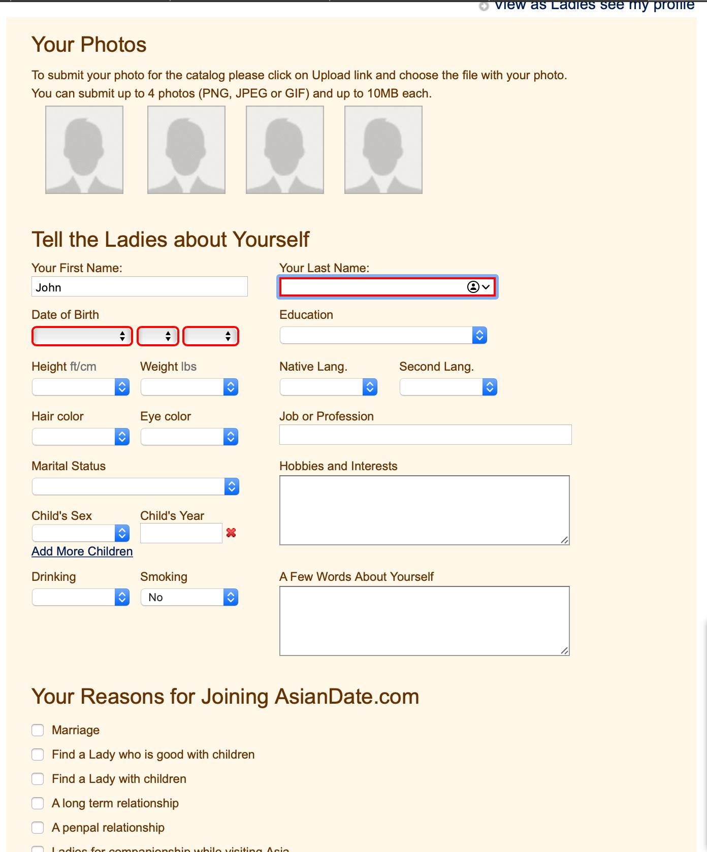 asiandate member information