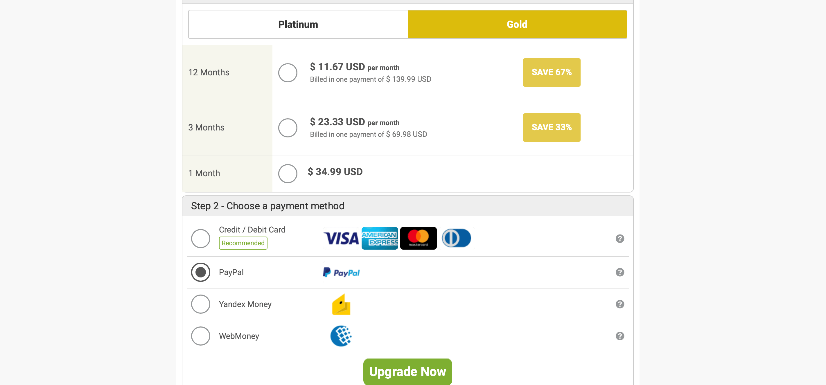 FilipinoCupid Gold Price