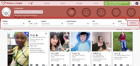 ChinaLoveCupid making contact