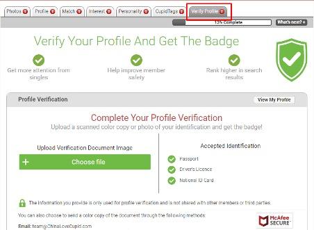 verify profile ChinaLoveCupid